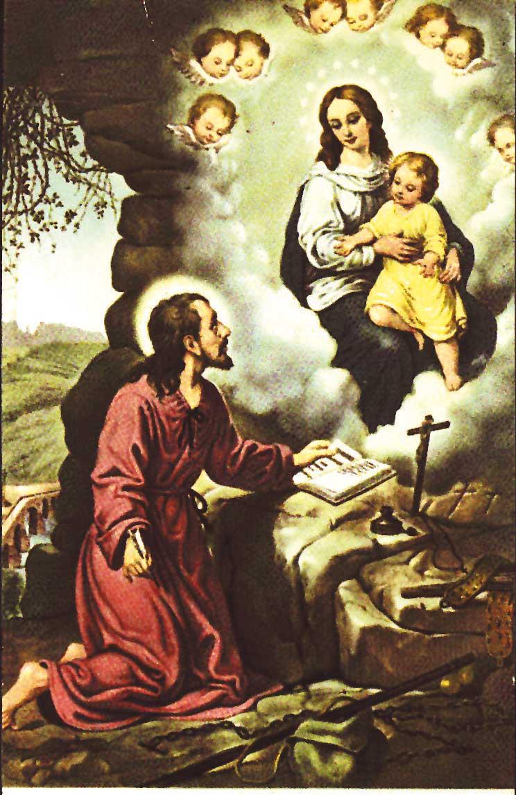 La Ste Vierge dicte les exercices spirituels à saint Ignace